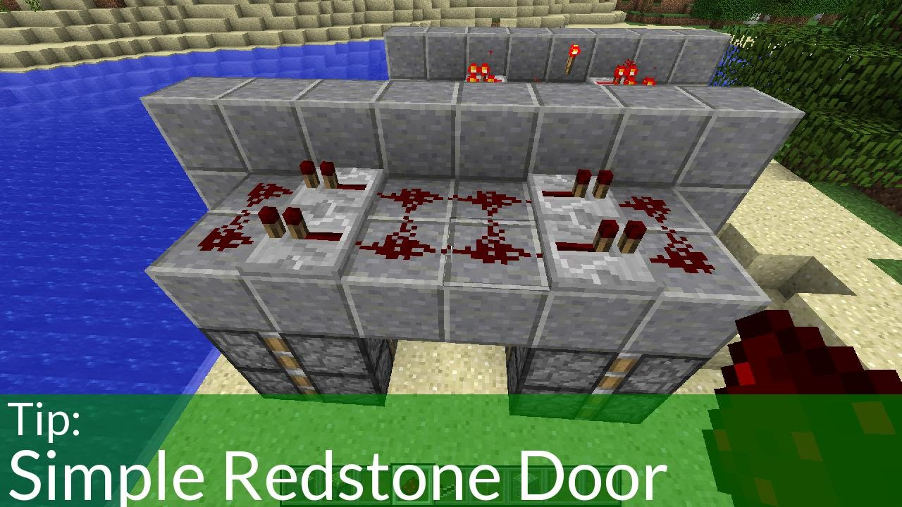 How To Make A Simple Minecraft Redstone Door Jeb Door Youtube