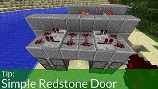 How To Make A Simple Minecraft Redstone Door (Jeb Door)