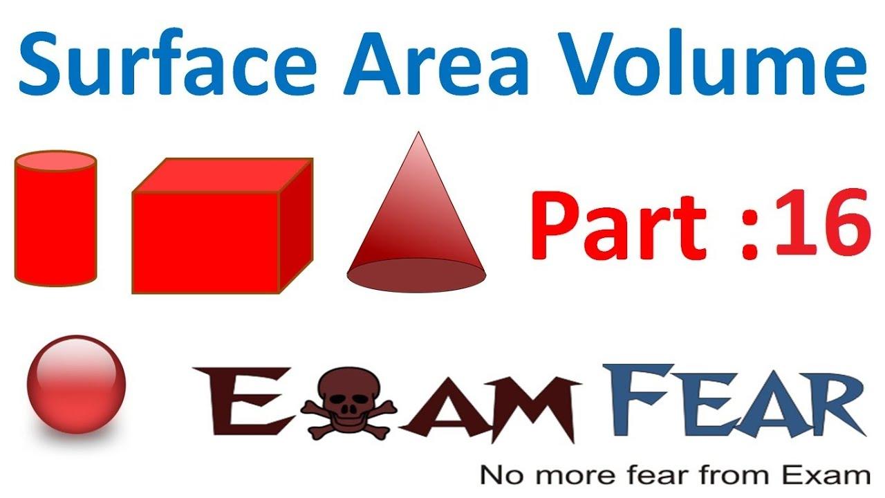 Maths Surface Area Amp Volume Part 16 Frustum Derive Formula Cbse Class 10 Mathematics X