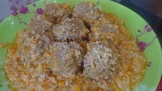 Мясные ежики с рисом