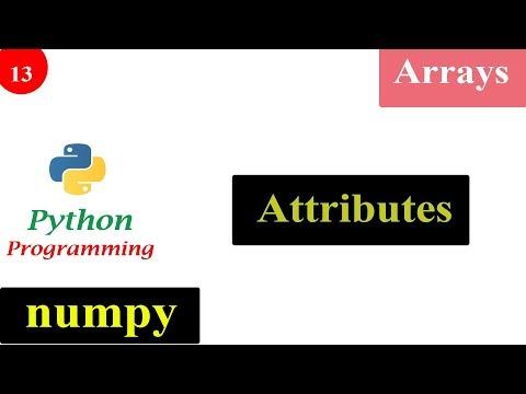 Python Tutorials - Attributes of NumPy Array thumbnail