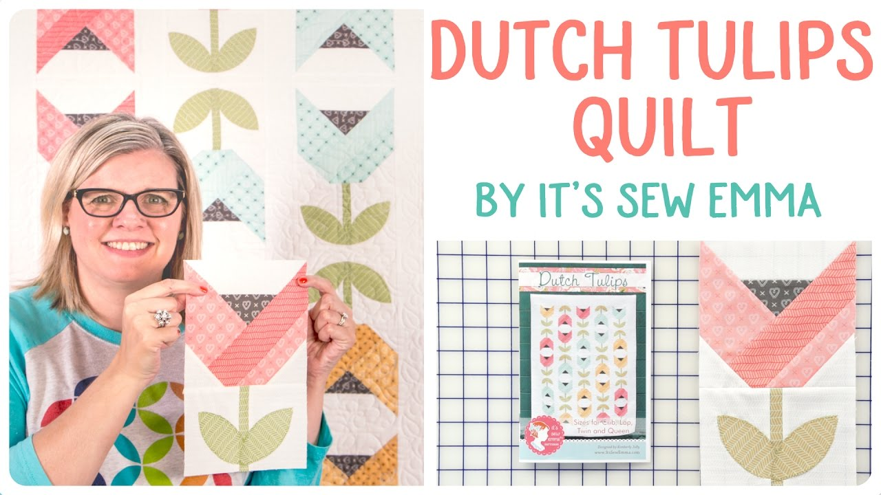 How To Make The Dutch Tulips Quilt Featuring Impressions Orange Peel