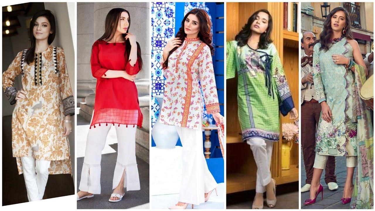 60 Stylish Casual Kurti/ Kurta Shirts Designs/ Digital Print Long & Short Shirts/Neck designs