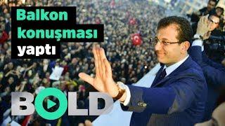 Ekrem İmamoğlu ''balkon konuşması'' yaptı | Cumhurbaşkanı Erdoğa