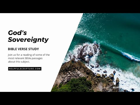 Bible Verses About God's Sovereignty