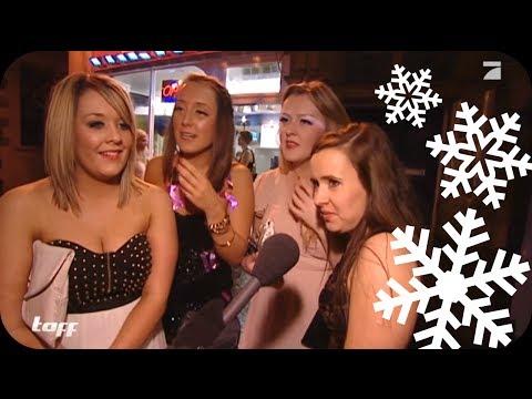 Feierwütige Engländerinnen: Halbnackt im Schnee | taff