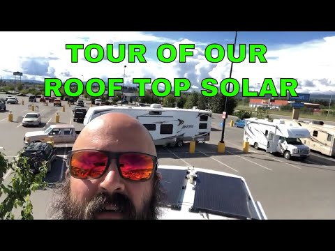 DIY RV Solar [tour of our roof top solar panel installation]