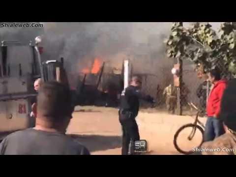 Combaten Incendio en residencia habitada cerca de carretera Tijuana