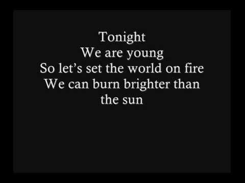 Fun Ft Janelle Monae We Are Young Official Lyrics Youtube