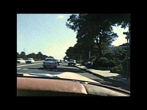 Found 8mm Film - 1963 Drive in San Diego - I8 Mission Valley to Rosecrans