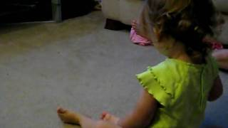 Toddler doing somersaults