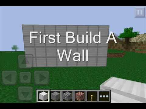 minecraft p e how to make a secret room with a painting youtube. Black Bedroom Furniture Sets. Home Design Ideas