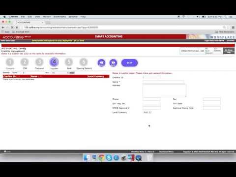Smart FIS - Config - Setup COA, Debtors, Creditors and Bank