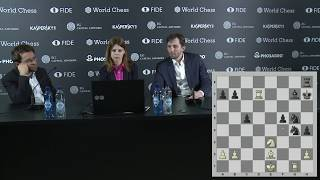 Round 5. Press conference with Aronian and Grischuk