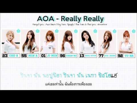 [Thai Sub] AOA - Really Really (진짜)