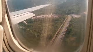 Посадка в аэропорту Тиват, Черногория. Landing at the airport Tivat, Montenegro.