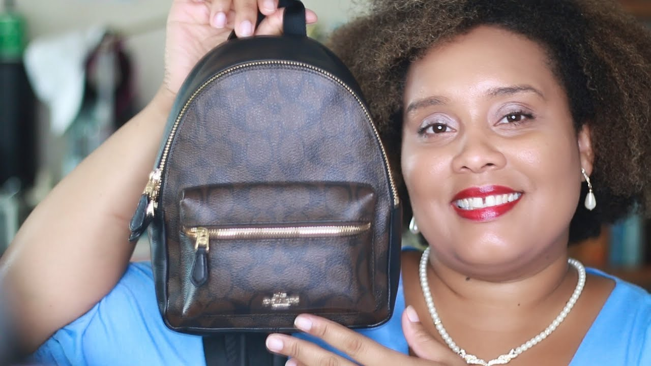 6b4a907a3e77f Coach Mini Charlie Backpack Review - YouTube