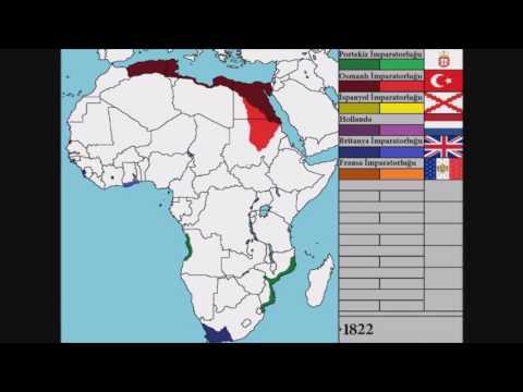 Afrika'nın Kolonileştirilmesi - Colonization of Africa - (Map-Harita) - Every Year