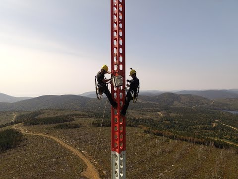 Installation of a SBB Met Mast by Group Mill's team
