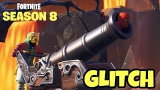 NEW FORTNITE CANNON GLITCH (SEASON 8) WEIRD GLITCH