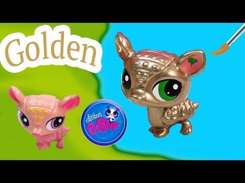 LPS Custom GOLD Armadillo Golden DIY Littlest Pet Shop Nail Polish Easy Craft Painting