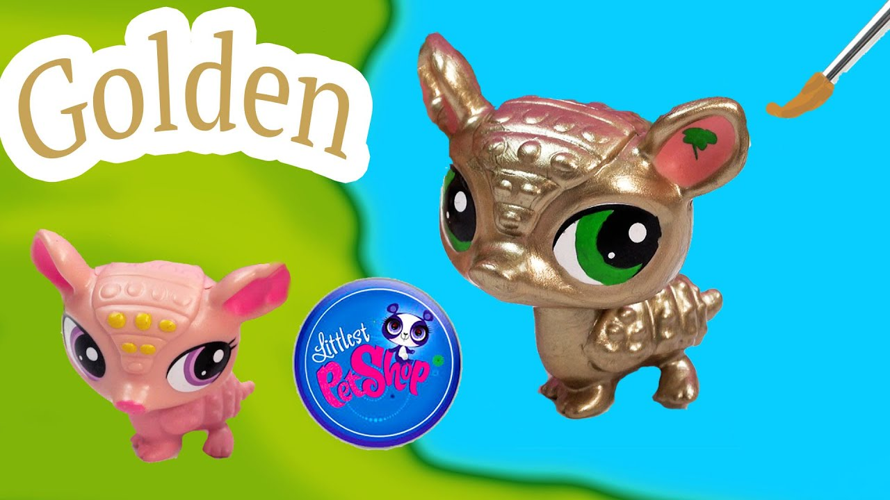 ... Golden DIY Littlest Pet Shop Nail Polish Easy Craft Painting - YouTube