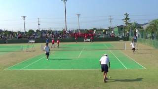 '17 東インカレ ソフトテニス 大学対抗 男子 準々決勝 1 1次戦 2
