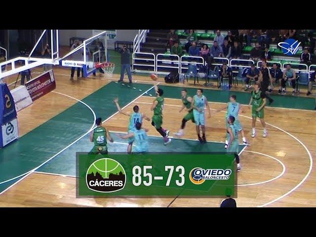 Resumen: Cáceres Patrimonio de la Humanidad - Liberbank Oviedo Baloncesto (LEB Oro 19/20)