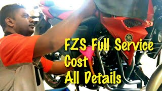 My Yamaha FZS V2 full service|| Cost|| Problems|| Fuel Injector Clean|| SNC Yamaha