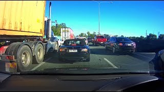 Australia's most congested highway - M1 Gold Coast to Brisbane Time-lapse