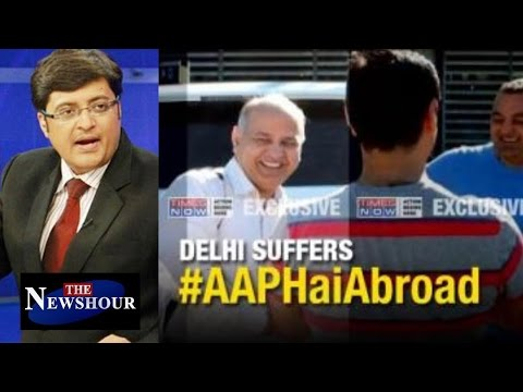 Manish Sisodia HOLIDAYING in Finland While People Dying In Delhi: The Newshour Debate (15th Sep)