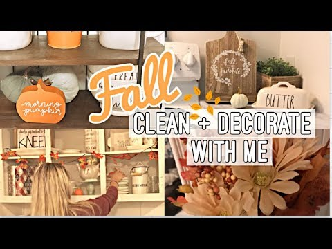 FALL CLEAN AND DECORATE WITH ME! RAE DUNN FALL DECOR