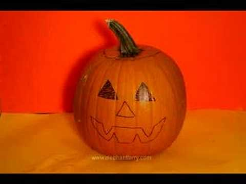 Happy Halloween   Pumpkin Carves Itself!   YouTube