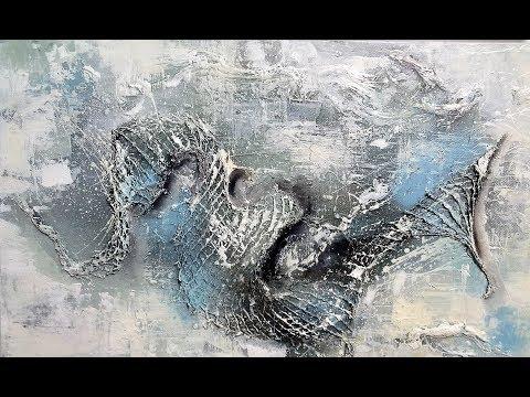 Abstraktes Malen-Mischtechniken-Abstract Art Painting / V103