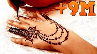 Simple Henna Mehndi Design - نقش حناء سهل جدا مع رسومات بسيطة و عصرية