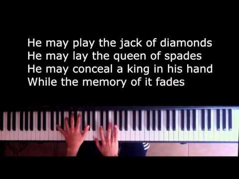 Shape of my heart - Sting piano Karaoke/Sing along with Lyrics