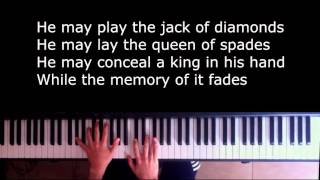 Shape of my heart - Sting piano Karaoke/Sing along with Lyrics