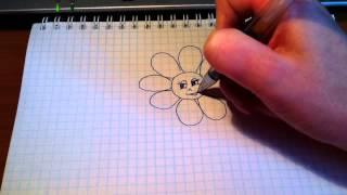 Простые рисунки # 4.Ромашка.