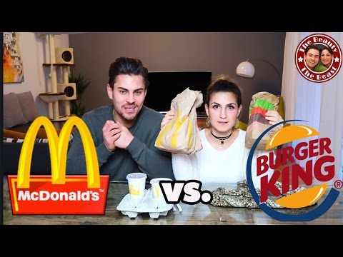 MC DONALDS VS. BURGER KING - FAST FOOD TEST | FAKE VS. ORIGINAL | TBATB