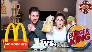 MC DONALDS VS. BURGER KING - FAST FOOD TEST | FAKE VS. ORIGINAL | TBATB
