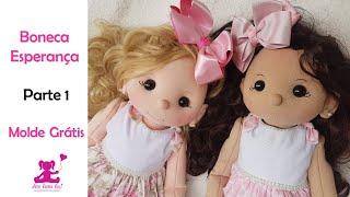 Passo a passo boneca de pano Esperança- linda boneca de pano fácil de fazer