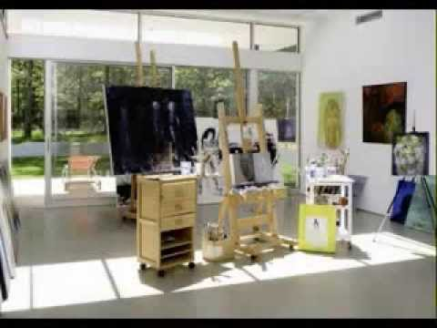 Home Art Studio Ideas   YouTube Home Design Ideas