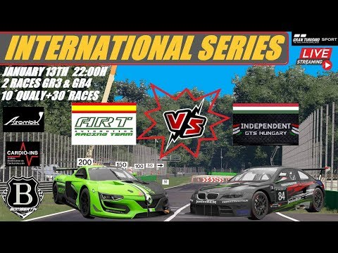INTERNATIONAL SERIES- ART Vs INDEPENDENT GTS HUNGARY-LIVE-GRAN TURISMO SPORT-PS4-BOMBERTIN