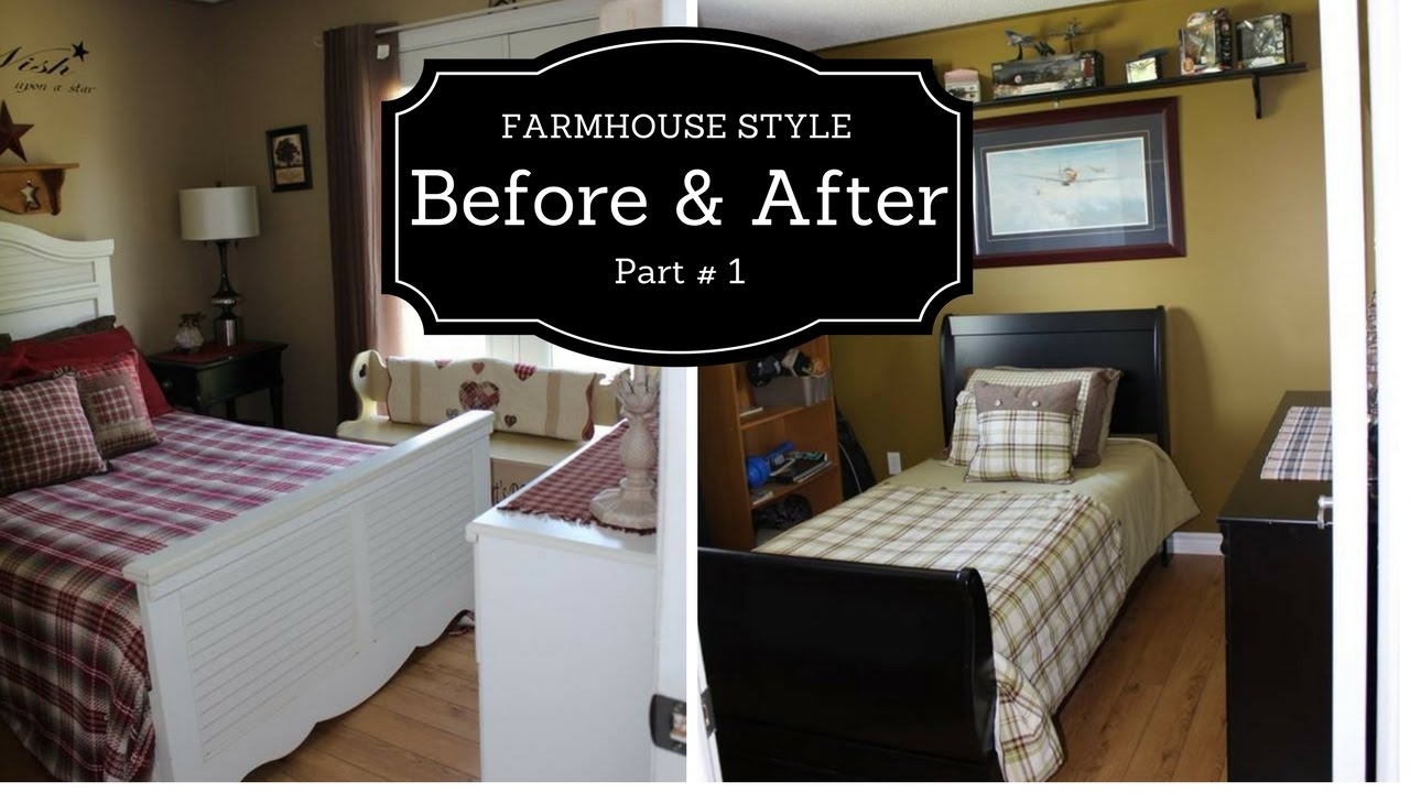 Farmhouse Style Bedroom makeover 2017 PART#1 - YouTube