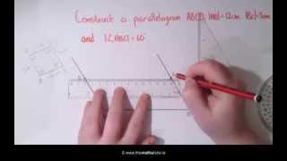 Construction 20 Parallelogram - Leaving Cert & Junior Cert Maths - Construction 20 Parallelogram