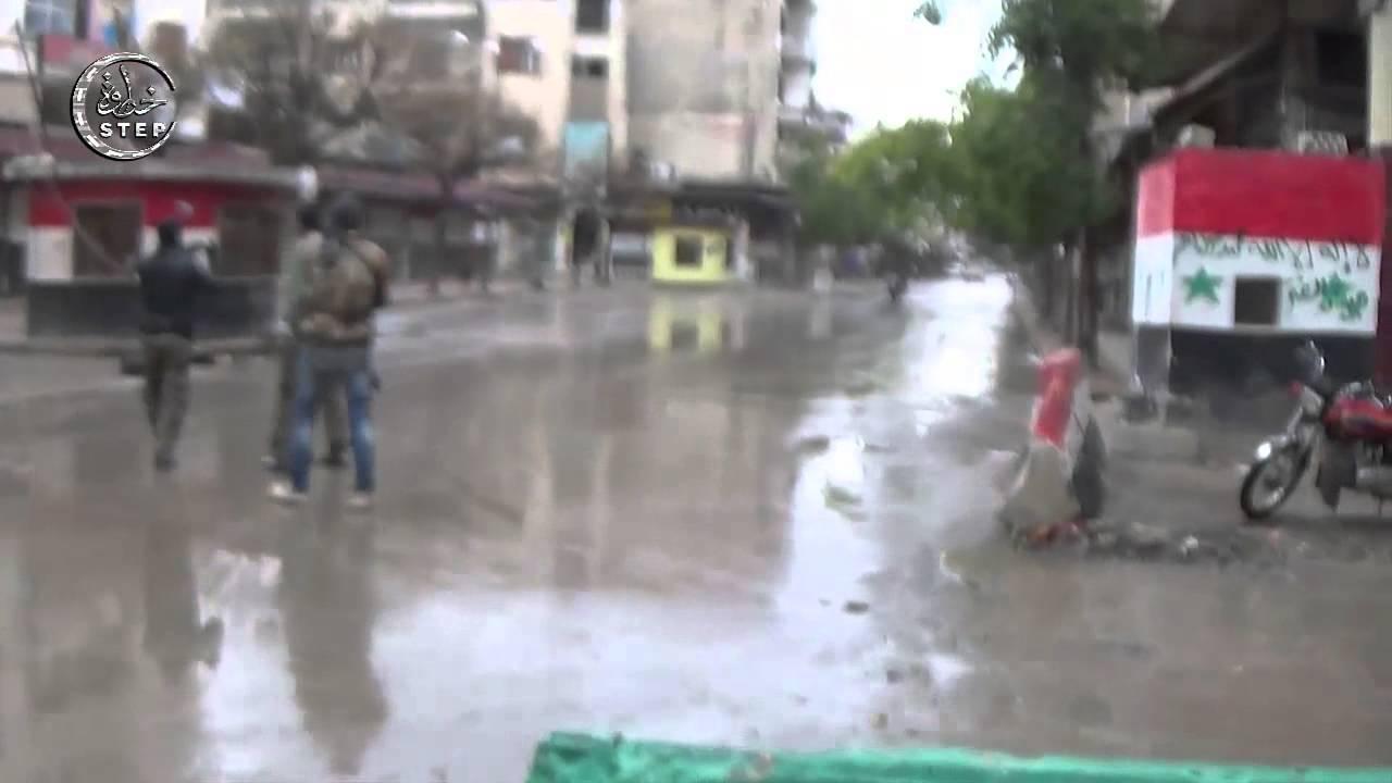 خطوة || جولة داخل مدينة ادلب بعد التحرير و فرحة الاهالي بالنصر  28 3 2015