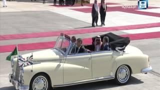 بالفيديو.. لحظة وصول خادم الحرمين إلى الأردن