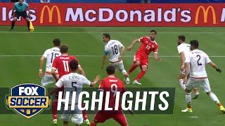 Aleksandr Samedov gives Russia 1-0 lead over Mexico.