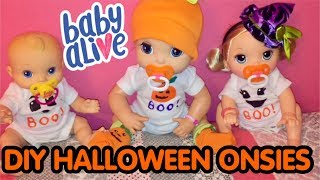 DIY HALLOWEEN ONSIES for Baby Alive dolls and other dolls