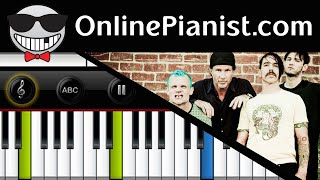 How to play Californication by Red Hot Chili Peppers - Piano Tutorial